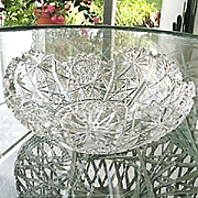 American Brilliant Cut Glass 7.75 in. Bowl Pre-1910