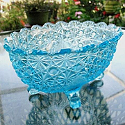 Daisy Button Aqua Blue Master Berry Bowl 10.25 in.