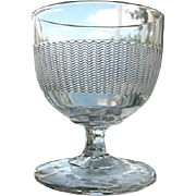 Ripple Band Central Glass 1870s Buttermilk Goblet