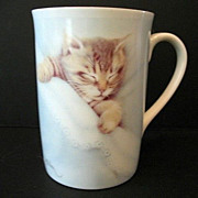 SALE Sleeping Tabby  2 Cups Otagiri-Harrison 1980s