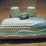 SOLD Corn Ear Butter and Salt Pepper Set Made in Japan