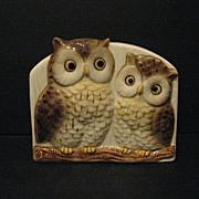 Pen and Letter Holder Otagiri Owls Made in Japan