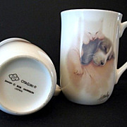 Otagiri Cups 2 Sleeping Kitten and Puppy Bone China