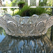 SALE Bowl Large 12 in. Oval  New Jersey U.S. Glass 1900 EAPG