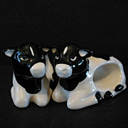 Napkin Rings 8 Black White Cows Hand Crafted Ceramic