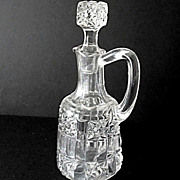 SALE Cruet EAPG Stars Bars Bellaire Goblet ca 1892