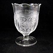 Spooner Vase EAPG Rochelle Pattern Bakewell Pears & Co.