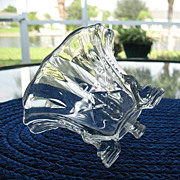 Footed Sauce Condiment Bowl Heisey Barcelona Cut Crystal