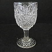SALE Small Wine Glasses 8 Hobstar and File Westmoreland Specialty 1912