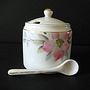 SALE Azalea Mustard Jar with Spoon Noritake Vintage