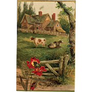 Greeting Postcard- Cows In The Pasture