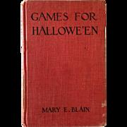 SOLD Games For Hallowe'en- Published In 1912