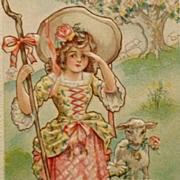 SOLD Nursery Rhyme Postcard- Little Bo Peep