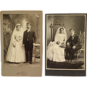 SALE 2 Cabinet Cards- Romance, Blooms And Beautiful Brides