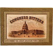 SALE Trade Card- Congress Bitters-The Great American Tonic