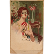 "Artist Signed Postcard- ""For You, A Rose"" By Frederick Duncan"