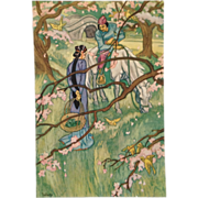 Print-Beautiful Chinese Girl With Basket Meets Her Prince