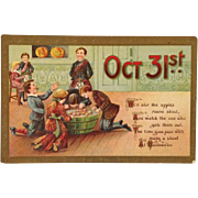Gottschalk, Dreyfus and Davis Postcard-  Halloween Games And Touch Of Scotland