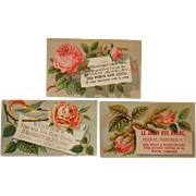 Lot of 3 Trade Cards-  Human Hair Goods, Five And Ten and A Dye House