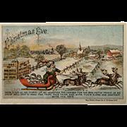 SOLD Trade Card -Mrs. Pott's Sad Iron With Santa