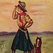 """SOLD Cowgirl Up- Its """"A Long Way Home""""-  Artist Signed Frank Reynolds"""