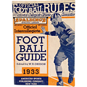SOLD Spalding's Athletic Library- Official Intercollegiate Football Guide 1933