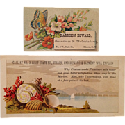 2 Victorian Trade Cards- Furniture And Undertaking