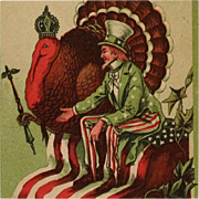 Thanksgiving Star - Tom Turkey With Uncle Sam
