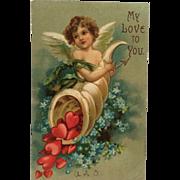 Cornucopia Of Valentine Hearts Postcard