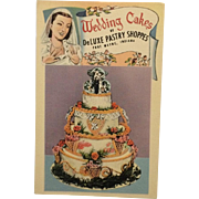 Vintage Postcard Advertising Wedding Cakes