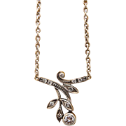 Art Deco Diamond necklace set in 14k white gold ,early 20th century