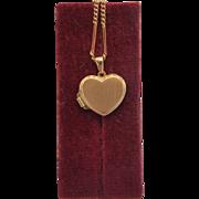 SALE 14k heart shaped locket, ca. 1970