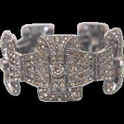 Art Deco Vintage Bracelet 1920's with Czech Pave  Rhinestones