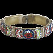 Micro Mosaic bracelet depicting flowers, late 19th century