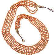 Tribal Art style Coral bead necklace, ca. 1930
