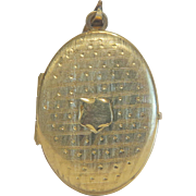 Victorian gilt silver locket, 19th century