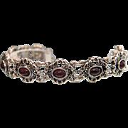 Antique Garnet and silver bracelet,19th century