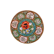 Colourful Venetian Micro Mosaic brooch dated at the19th century