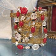Bohemian glass bead necklace, ca.1930