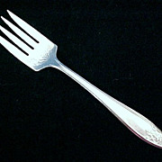 ROGERS Silver Plate Cold Meat Fork LADY DORIS / Princess (c. 1929)