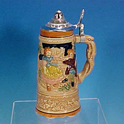 German style Lidded MUSICAL BEER STEIN Japan
