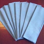 Vintage Hand-made Cotton Linen DINNER NAPKINS Set of Eight (8) Medium Blue