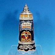 SOLD Vintage MUSICAL Lidded German-style Beer Stein Mechanical Dancing / Turning German Figuri