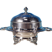 Antique Victorian-Era Quadruple Silver Plate Chased PAIRPOINT Dome Covered Butter Dish Holmes