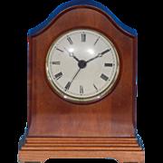 SOLD Vintage WISCONSIN CLOCK COMPANY Solid Cherry Wood Traditional Arch Desk Mantel Quartz Clo