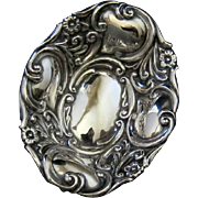 SALE Antique Sterling Baroque Inspired Repousse Scroll and Floral Ring Trinket dish Cornelius