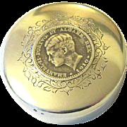 SALE Edwardian/Art Nouveau Sterling Silver Coin - Snuff - Pill Box - Hallmarked