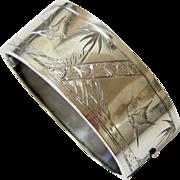 SOLD Victorian Aesthetic Movement Sterling Bangle Bracelet