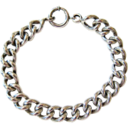 SALE Sterling Silver Albert Link Bracelet