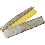 Antique Silver (800) Case with Celluloid Comb - Hallmarked